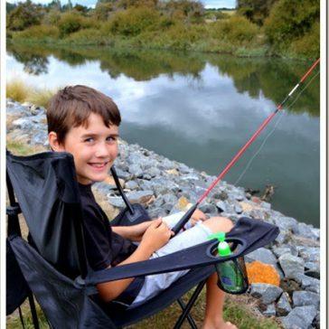 Fishing in the Macquarie River, Tasmania