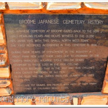 The Japanese Cemetery in Broome